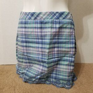 Vineyard Vines skirt 2 plaid floral eyelet trim